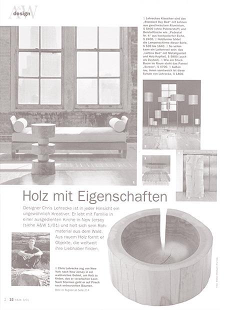 Architektur und Wohnen, March 2001