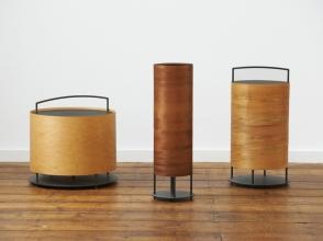 Lantern with Veneer Wood Shades