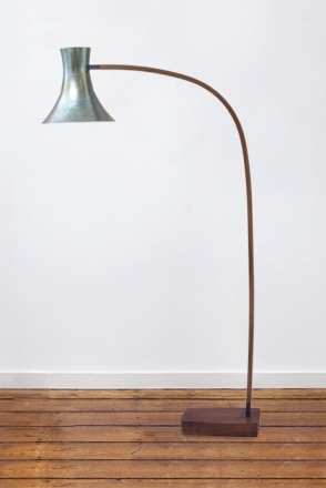 Trumpet Shaped Spun Shade Floor Lamp