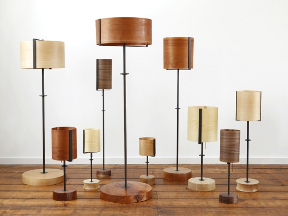Veneer Shade Lamp Collection