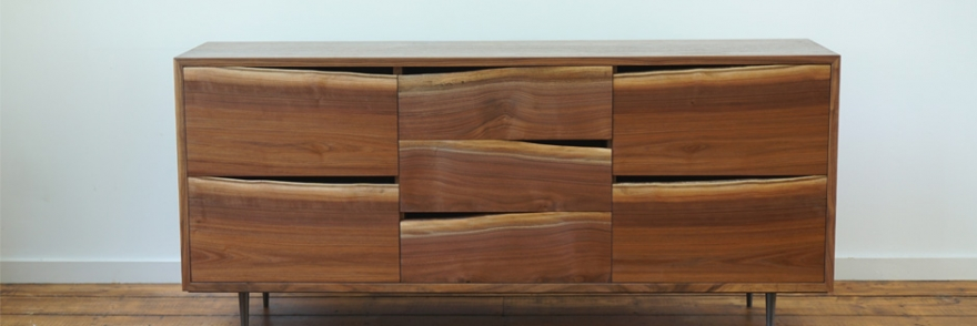 Custom Natural Edge Chest of Drawers